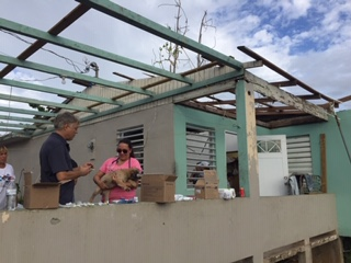 providing veterinary services to areas devastated by hurricane Maria